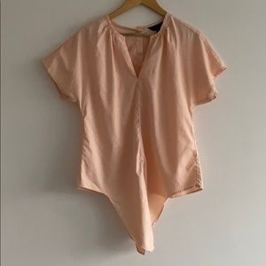 J crew tie bottom button back blouse in pink